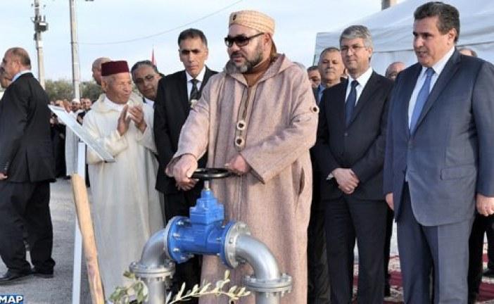 العاهل المغربي الملك محمد السادس يعطي انطلاقة الشروع في استعمال نظام للري بالتنقيط في جهة مراكش-آسفي