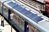الهند تطلق أول قطار يعمل بالطاقة الشمسية