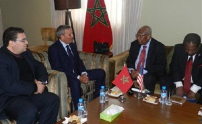 مباحثات السيد حمو اوحلي،كاتب الدولة المكلف بالتنمية القروية والمياه والغابات،مع وفد أمريكي رفيع المستوى حول سبل تعزيزا لتعاون المغربي الأمريكي في القطاع الفلاحي