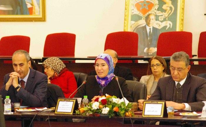 السيدة نزهة الوافي كاتبة  الدولة المكلفة بالتنمية المستدامة في زيارة ميدانية لإقليم الحاجب