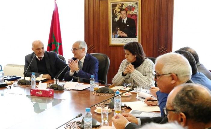 عبد الأحد الفاسي الفهري يستقبل الفيدرالية الوطنية  للبناء والأشغال العمومية والجامعة المغربية للاستشارة والهندسة