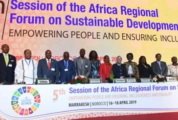 إعلان مراكش في اختتام الدورة الخامسة للمنتدى الإفريقي للتنمية المستدامة أبريل 2019
