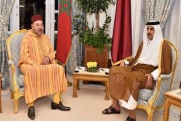 جلالة الملك يتلقى اتصالا هاتفيا من أمير دولة قطر