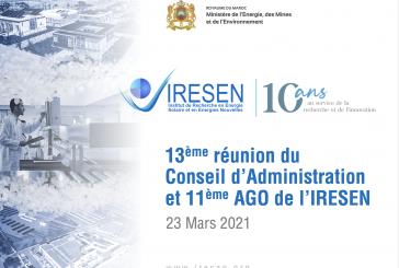 Réunion du 13ème Conseil d'Administration de l'Institut de Recherche en Énergie Solaire et Énergies Nouvelles – IRESEN